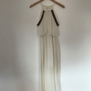 White maxi dress - size small